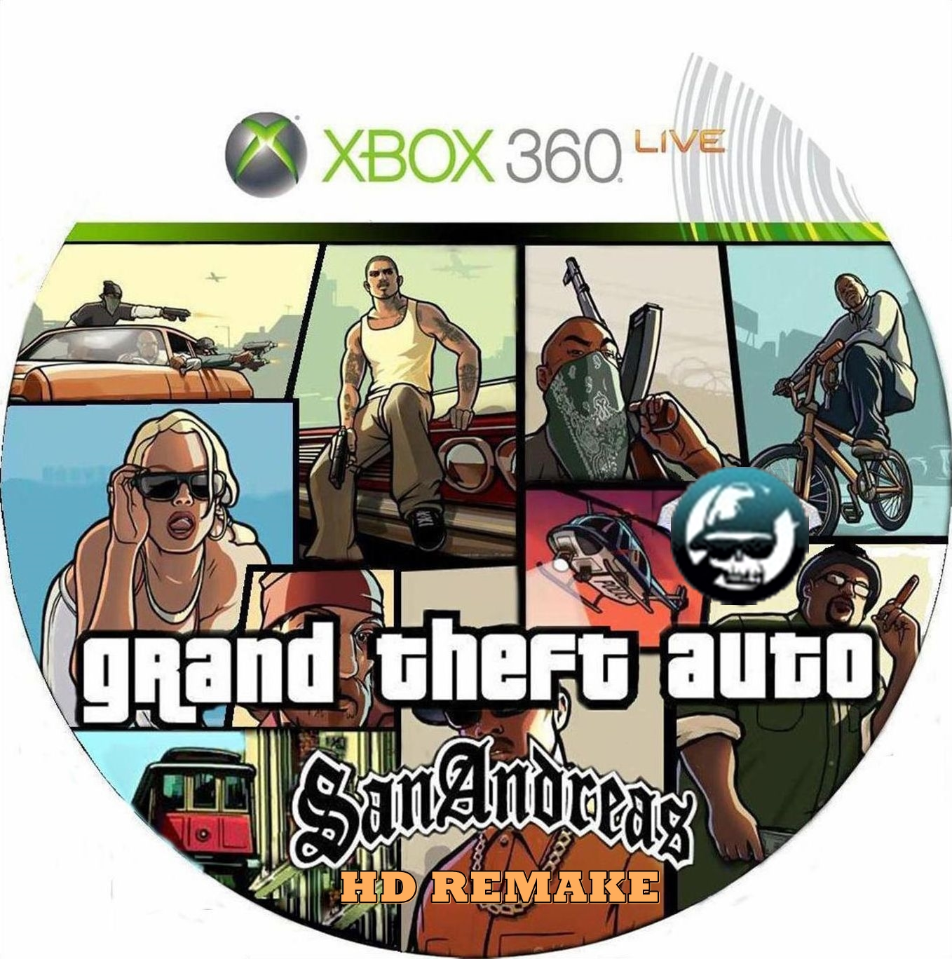 Comprar Jogos Ps 2 Xbox 360 Dvd Xbox360 Playstation 2 Ps2: Grand Theft Auto San Andreas HD Remake (Cover 2015) Capa